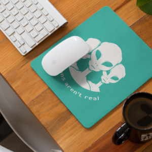Humans are not real MOUSE PAD